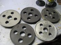 A gang of OT pulleys