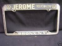 vw plate frame, jerome