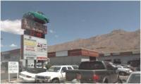 VW Fastback on a pole in El Paso TX