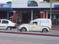 Cool Fiberglass Beetle Delivery Van