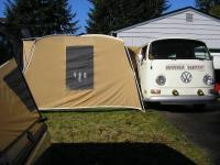 pitched a tent