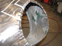 Early headlight bucket install for Ghia