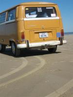 72 bay bus @ galveston beach, Texas (gulf of mexico)