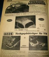 Hercules Roof Rack, Bug , Accessory, Geos Decklid rack, Rare