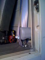 Three point belt installation