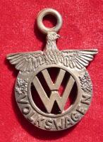 1950's Bronze Eagle VW pendant medalion charm zipper-pull keychain