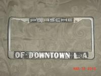 Porsche of Downtown LA Plate Frame