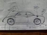 Concept sketch for racing-inspired VW special