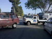 vanagon pulling tow truck