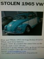 Stolent 1965 VW beetle