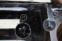Stamps in the spare wheel section
