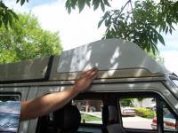 vanagon luggage cap aero topper, side profile