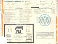 1987 VW Vanagon Window Sticker