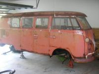 Billys 65 Bus Now In The Garage & Under Construction
