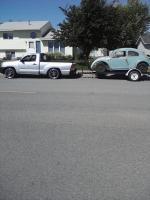 Single axle VW trailer.