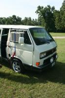 AC window unit.  Turns a vanagon into an Ice Box.