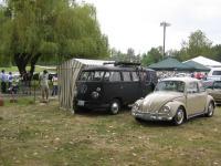 Grey and White Westfalia Tent on the BFKAThe Cragar Kombi