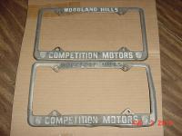 Competition Motors Dealer's Plate Frame, Woodland Hills