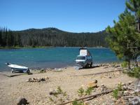 Vanagon at the lake