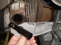 Fitting carb preheat pipe to rear cylinder deflector