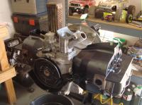 40hp engine with painted tin