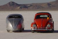 Dick Beith's chopped and stretched Bonneville racer
