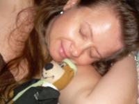 yogi taking a nap with the wifey