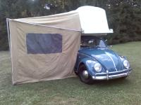 64 Beetle wwith 66 Dove Lodgette Campiong tent