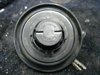 Black locking gas cap