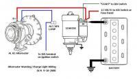 alternator wiring for int reg alternator