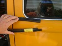 Bus Depot inner window scraper