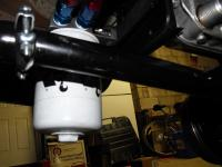 New oil filter mount