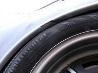 Rear tire clearance