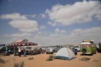 camping in a desert racing weekend
