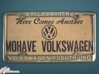 VW plate frame from Miami