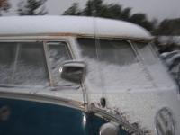 Unusual snow dusting in Loomis,  Calif.