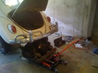Engine removal with an ATV jack