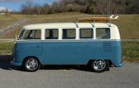 dove blue and ivory bus