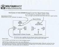 Emergency Flasher Relay Install Sheet from WolfsburgWest