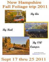 VW NH Fall Foliage tour