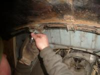 Adjusting a W-lid on our 57 oval