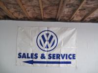 Old Dealership 6x4 Sales & Service Banner