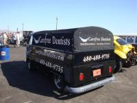 Black Single Cab with Dentist logos