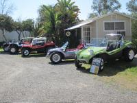 Manx buggies at Bruce and Winnie's