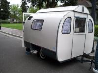 1956 SC with rare 1960 Austermann Knospe caravan