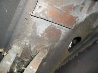 356  hole and bracet under front fender
