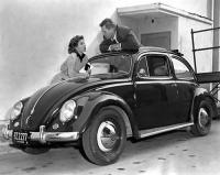 Cast of The Naked Alibi with a Sunroof Beetle