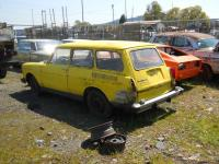 Yellow Squareback in Junkyard