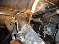 67 Bug Rear Tunnel Fuel Line Exit