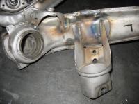 Flipped IRS control arms